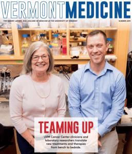 photo of Vermont Medicine Magazine cover - Jason Stumpff
